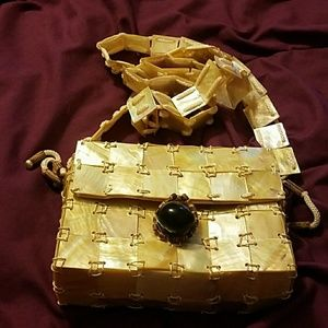 Handbags - Mother of Pearl Shell Purse